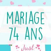 Carte anniversaire mariage 74 ans