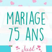 Carte anniversaire mariage 75 ans