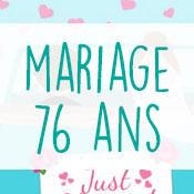 Carte anniversaire mariage 76 ans