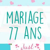 Carte anniversaire mariage 77 ans