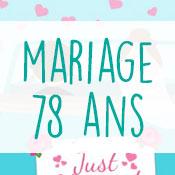 Carte anniversaire mariage 78 ans
