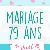 Carte anniversaire mariage 79 ans