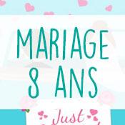 Carte anniversaire mariage 8 ans