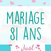 Carte anniversaire mariage 81 ans