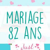 Carte anniversaire mariage 82 ans