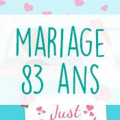 Carte anniversaire mariage 83 ans