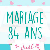 Carte anniversaire mariage 84 ans