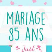 Carte anniversaire mariage 85 ans