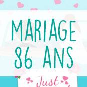 Carte anniversaire mariage 86 ans
