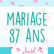 Carte anniversaire mariage 87 ans