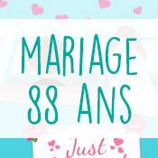 Carte anniversaire mariage 88 ans