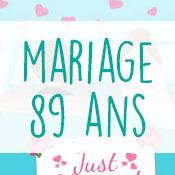 Carte anniversaire mariage 89 ans