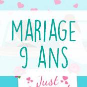 Carte anniversaire mariage 9 ans