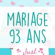 Carte anniversaire mariage 93 ans