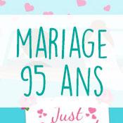 Carte anniversaire mariage 95 ans