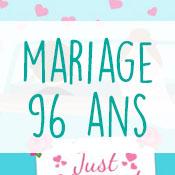 Carte anniversaire mariage 96 ans