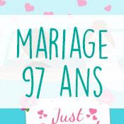Carte anniversaire mariage 97 ans