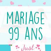 Carte anniversaire mariage 99 ans