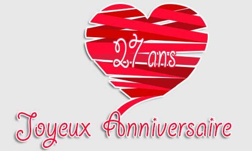 Carte Anniversaire Amour 27 Ans Geocoeur