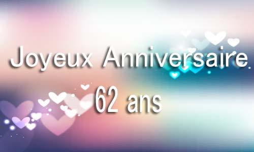 Carte Anniversaire Amour 62 Ans Flou Coeur