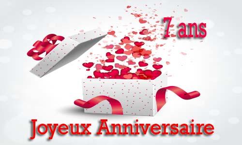 Carte Anniversaire Amour 7 Ans Cadeau Ouvert