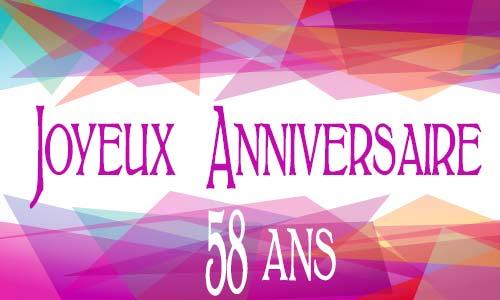 Carte Anniversaire Femme 58 Ans Virtuelle Gratuite A Imprimer