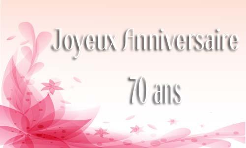 Fabuleux Carte anniversaire femme 70 ans virtuelle gratuite à imprimer YC25