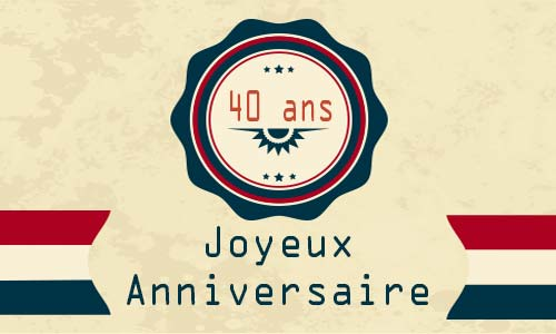 Carte Anniversaire Mariage 40 Ans Champagne