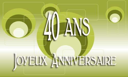 Carte Anniversaire 40 Ans Virtuelle Gratuite à Imprimer