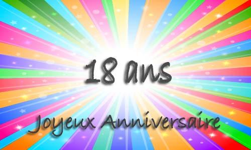 carte anniversaire 18 ans