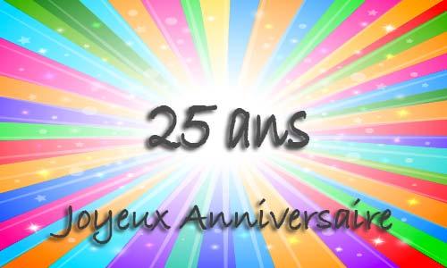 Carte Anniversaire Humour 25 Ans Multicolor