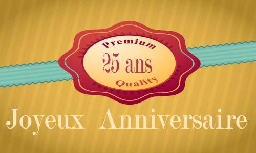 Carte Anniversaire Amour 25 Ans Cadeau Ouvert