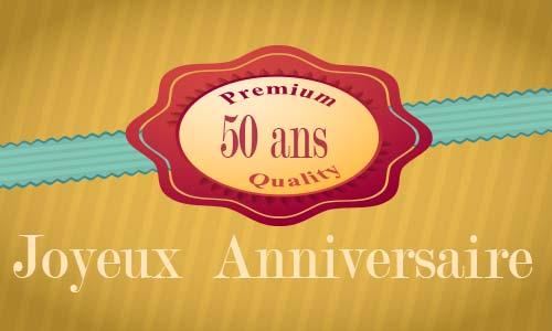 Exceptionnel Carte anniversaire humour 50 ans virtuelle gratuite à imprimer WD09