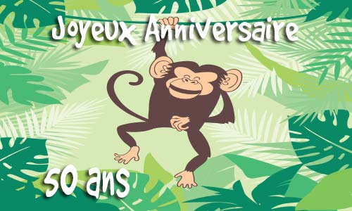 Populaire Carte anniversaire humour 50 ans virtuelle gratuite à imprimer LQ87