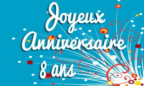 Assez Carte anniversaire humour 8 ans virtuelle gratuite à imprimer AZ99