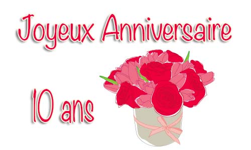 carte anniversaire mariage 10 ans bouquet. Black Bedroom Furniture Sets. Home Design Ideas