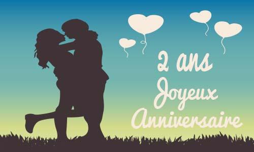 Carte Anniversaire Mariage 2 Ans Virtuelle Gratuite à Imprimer